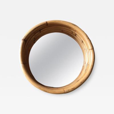 Six Strand Round Small 21 Decorative Porthole Rattan Mirror