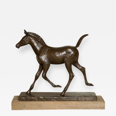 Skule Waksvik Bronze Foal Sculpture by Skule Waksvic