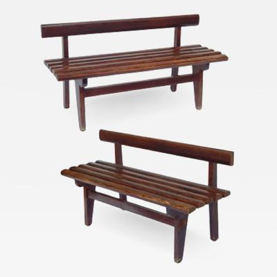 Slated French Benches