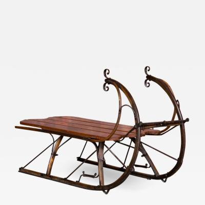 Small Antique Swedish Sled Coffee Table
