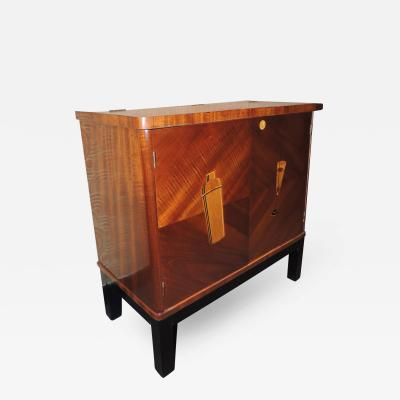 Small Art Deco Bar with Cocktail Design Inlay