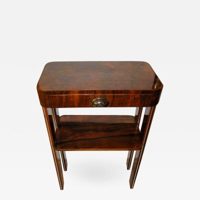 Small Art Deco Console Table with Drawer France circa 1930
