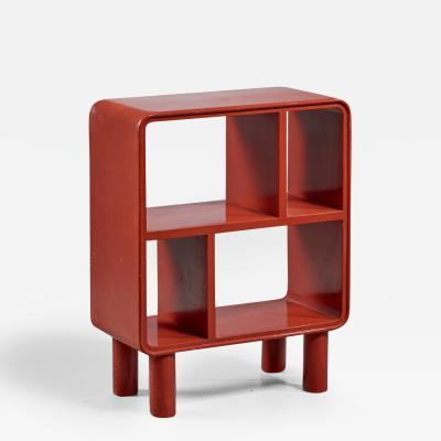 Small Art Deco Red Shelving Unit Sweden 1930s