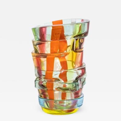 Small Art glass vase by Martin Potsch