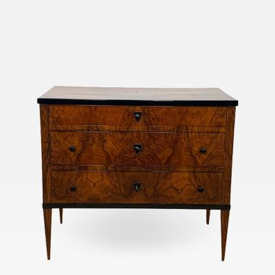 Small Biedermeier Commode Walnut Veneer Southwest Germany circa 1820