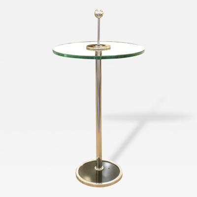 Small Chrome Side Table Italy 1970s