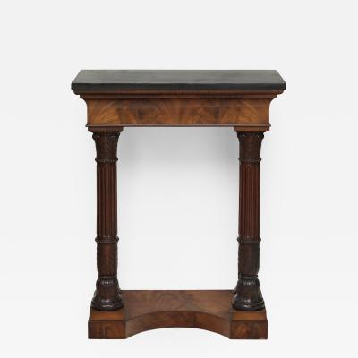 Small Early 19th Century Northern European Flame Mahogany Console Table