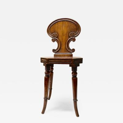 Small English Mahogany Hall Chairs