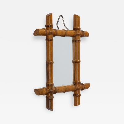 Small Faux Bamboo Mirror
