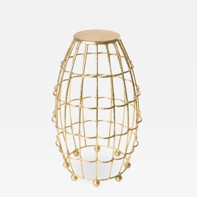 Small Gilded Cage Table From Fisher Weisman