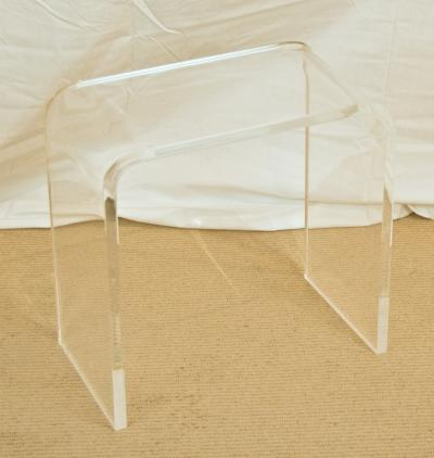 Small Lucite Waterfall Table