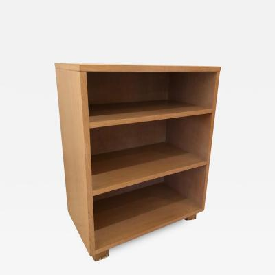 Small Mid Century Modern Bleached Cerused Oak Book Case