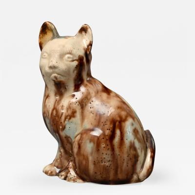Small Staffordshire Salt Glazed Stoneware Cat
