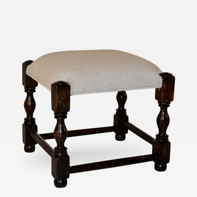 Small Upholstered Stool c 1900