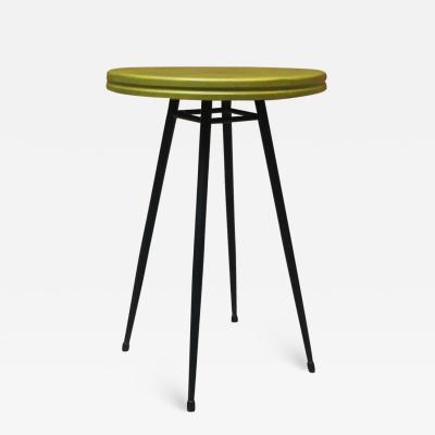 Small bar table with round green top 1950s