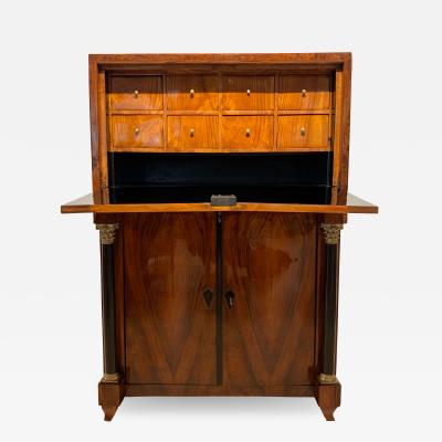 Small early Biedermeier Secretaire Walnut and Ash Austria Vienna circa 1820