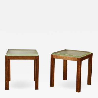 Small wood table with Saint Gobain top