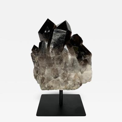Smoky Quartz Crystal Mounted Mineral Specimen