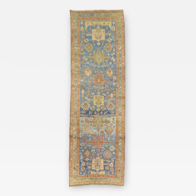 Soft Blue Persian Runner rug no j1446