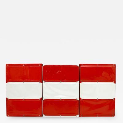 Softline Wall System Shelf Bookshelf by Otto Zapf Germany 1971 Red White