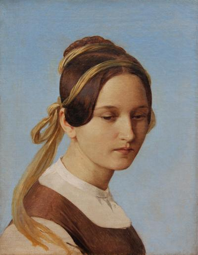 Carl Ferdinand Sohn Study for Disappointed Love