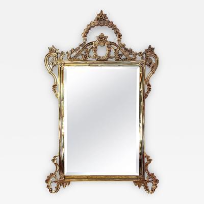 Solid Brass Rococo Form Mirror