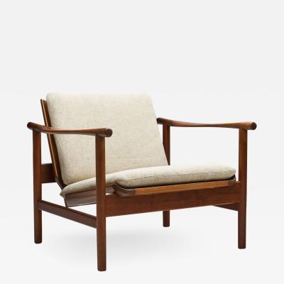 Solid Teak Danish Lounge Chair Denmark 1950s