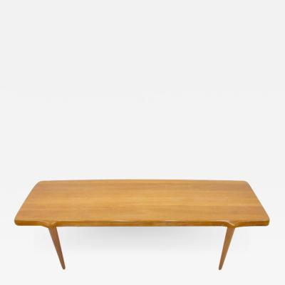 Solid Teak Wood Coffee Table by John Bone for Mikael Laursen Denmark 1960s