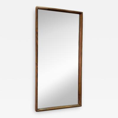 Solid teak mirror 1960s