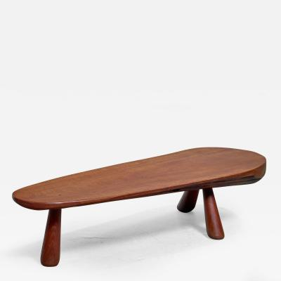 Solid wood coffee table France 1950s