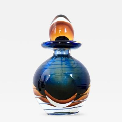 Sommerso Perfume Bottle by Dal Borgo Venice Italy 1980s