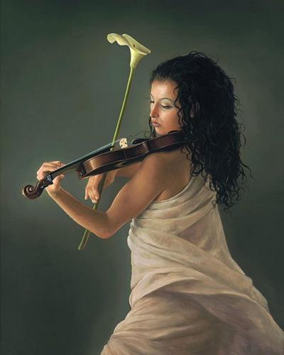 Sonata in Cala Contemporary Figurative Giclee Print by Dario Campanile