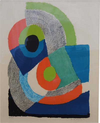 Sonia Delaunay Arc Vert Signed Abstract Lithograph by Sonia Delaunay 1972