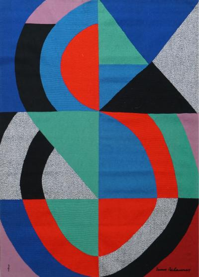Sonia Delaunay Hand Signed Modern Tapestry by Sonia Delaunay Grande Ic ne