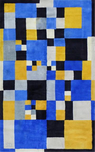 Sonia Delaunay Limited Edition Rug after Sonia Delaunay Magical Squares