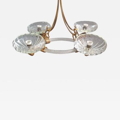 Sophisticated chandelier attributed to Barovier