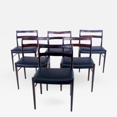 Soren Willadsen Set of Six Danish Modern Rosewood Dining Chairs Designed by Soren Willadssen