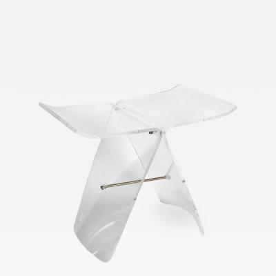 Sori Yanagi Lucite Butterfly Stool after the Original Bentwood Stool by Sori Yanagi
