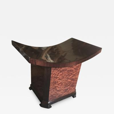 Soubrier Maison Soubrier Extreme Quality Art Deco Curule Stool in Makassar Burl
