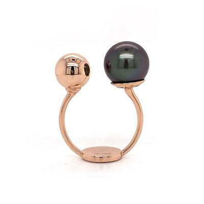 South Sea Pearl with Rose Gold 18K Fashion Ring