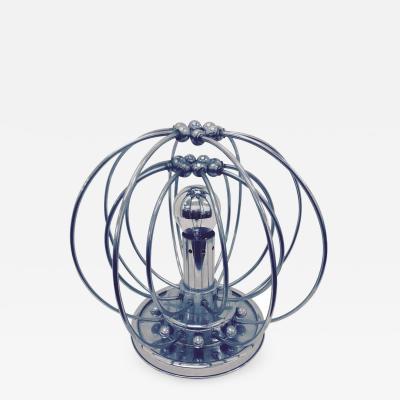 Space Age Italian Chrome Table Lamp circa 1960