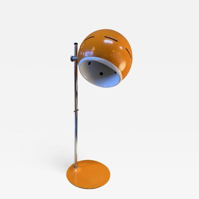 Space Age Orange Table Lamp Italy 1960s