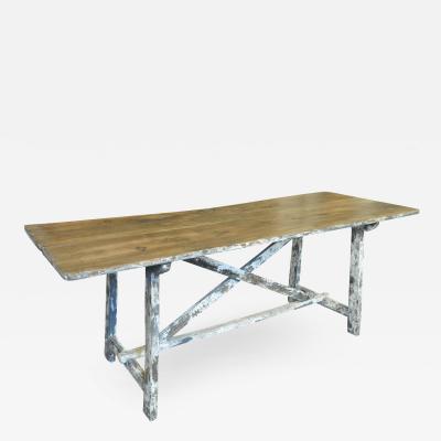 Spanish 18th Century Farm Table Trestle Table