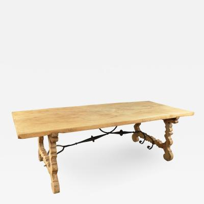 Spanish 19th Century Farm Table In Bleached Chestnut