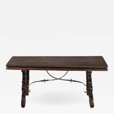 Spanish Baroque 17th century walnut Flip Bench or Low Table