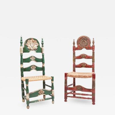 Spanish Ceremonial Chairs 19th Century
