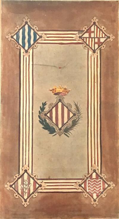 Spanish Family Crest c 1900