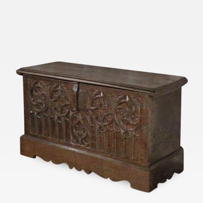 Spanish Late Gothic 16th century Oak Coffer Chest