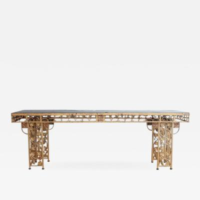 Spectacular French Gilded Wrought Iron Winery Table