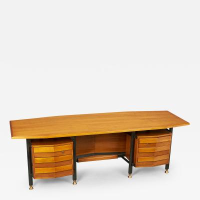 Spectacular Large Italian Desk Italy 1950s